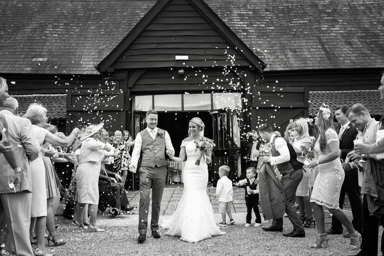 Confetti Shot - Tudor Barn wedding venue