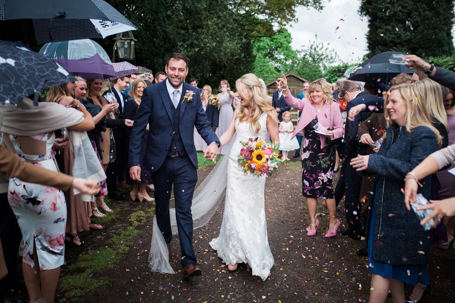 Confetti Shot - church wedding, Buckinghamshire