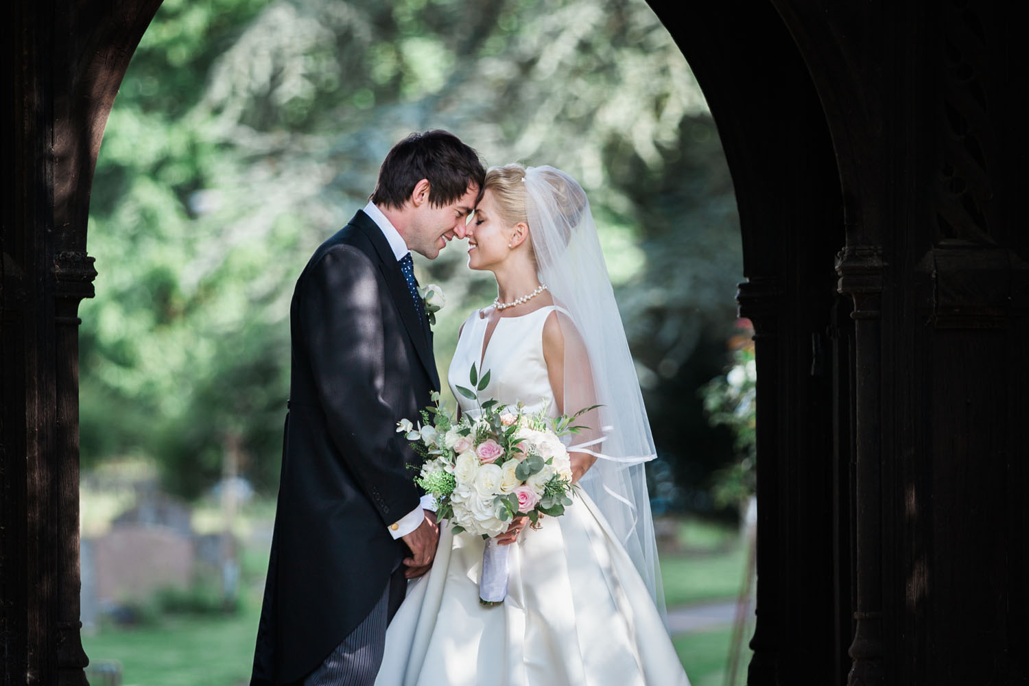 Bride and Groom - Stoke Poges Church