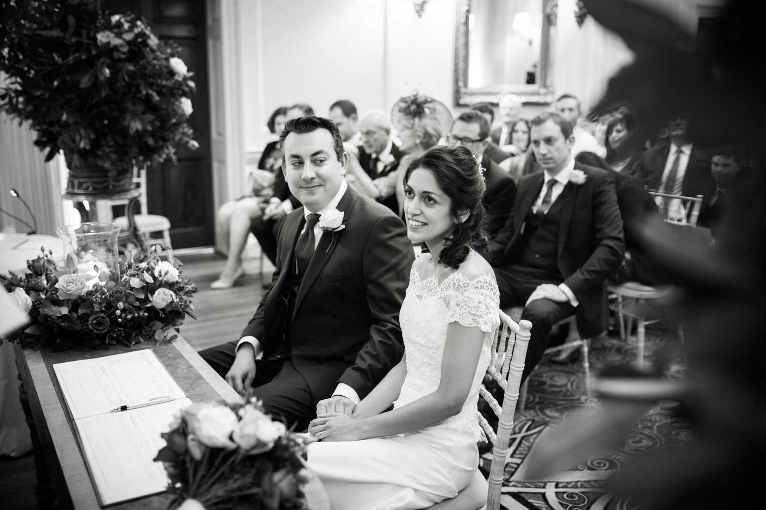 groom looking lovingly at bride - ceremony