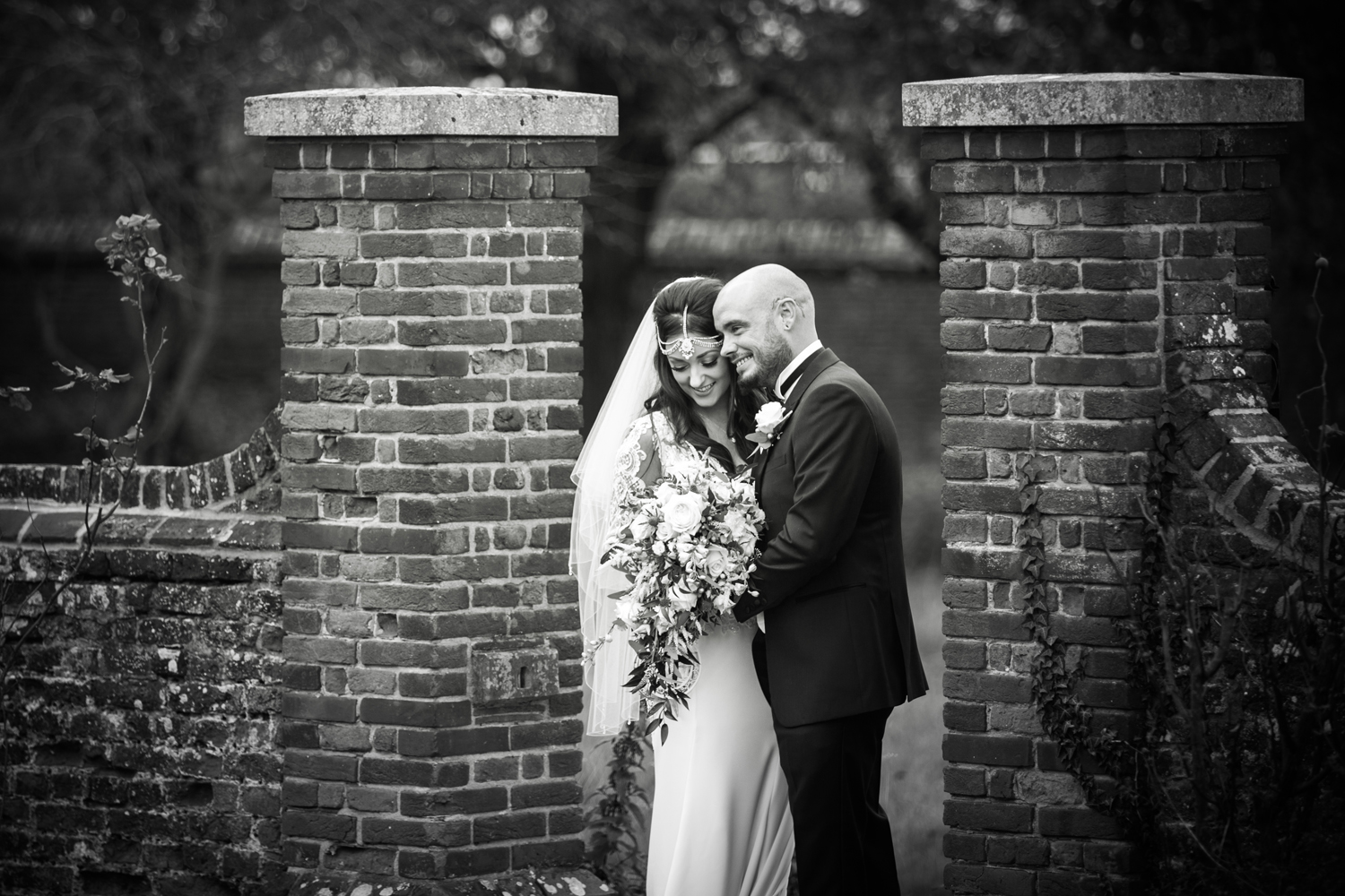 Bride and Groom at Lillibrooke Manor