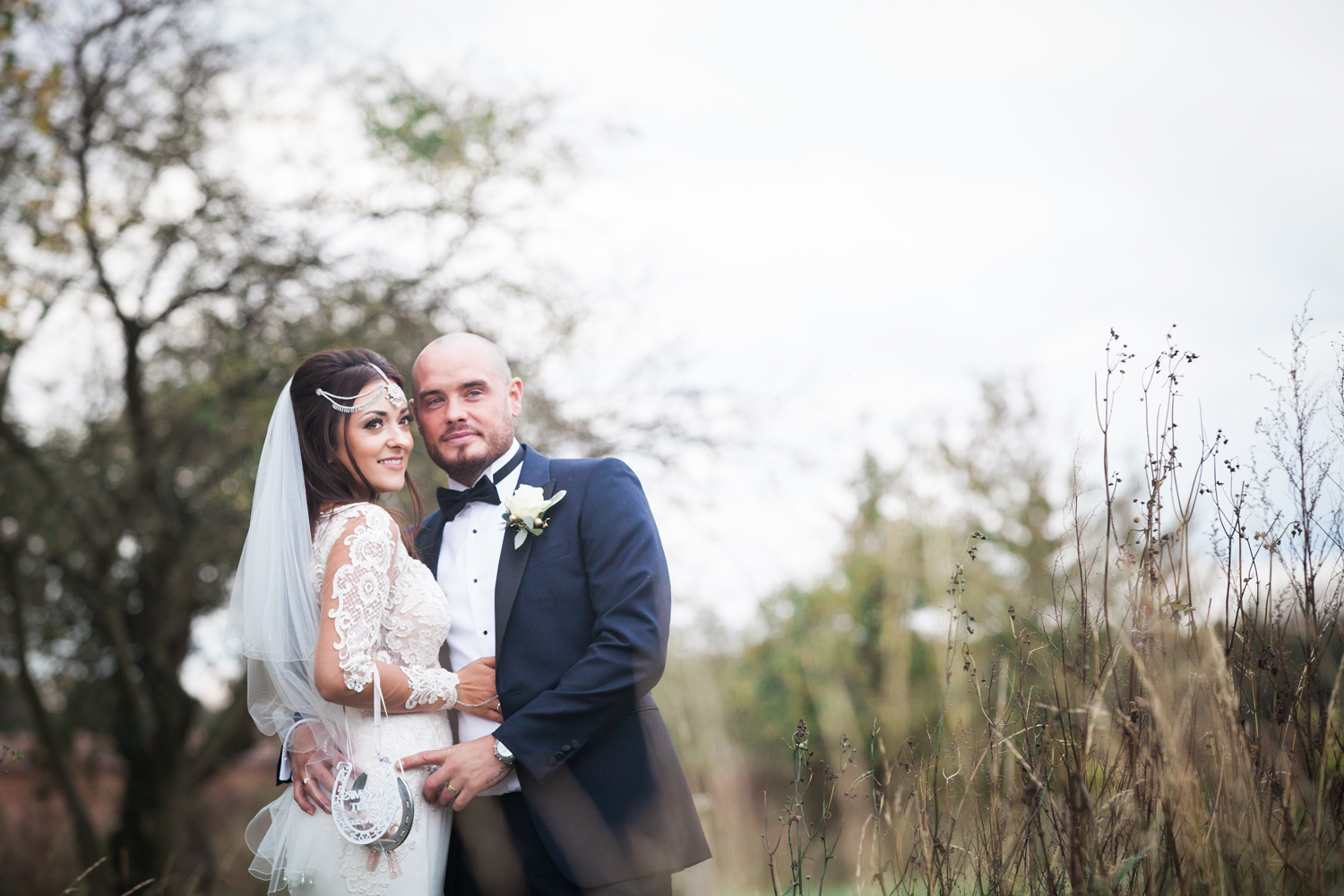 bride and groom at lillibrooke manor - Heni Fourie Photography