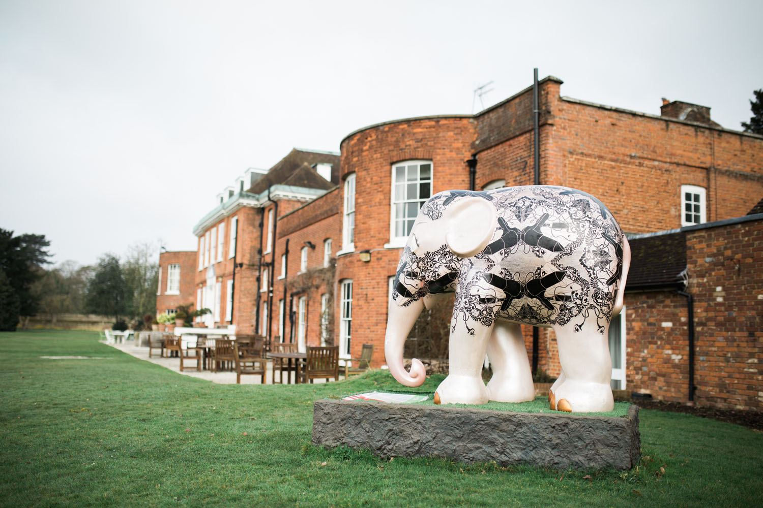 Stoke Place Weddings - Elephant Statue