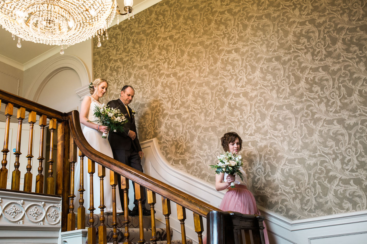 Stoke Place Staircase - Berkshire Weddings
