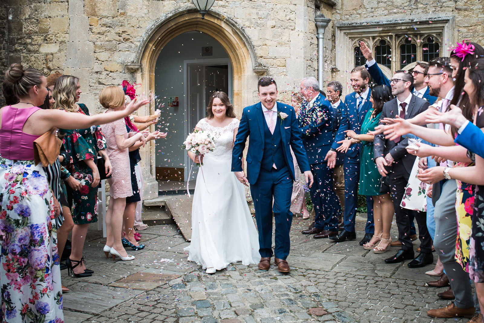 confetti shot at notley abbey, bucks