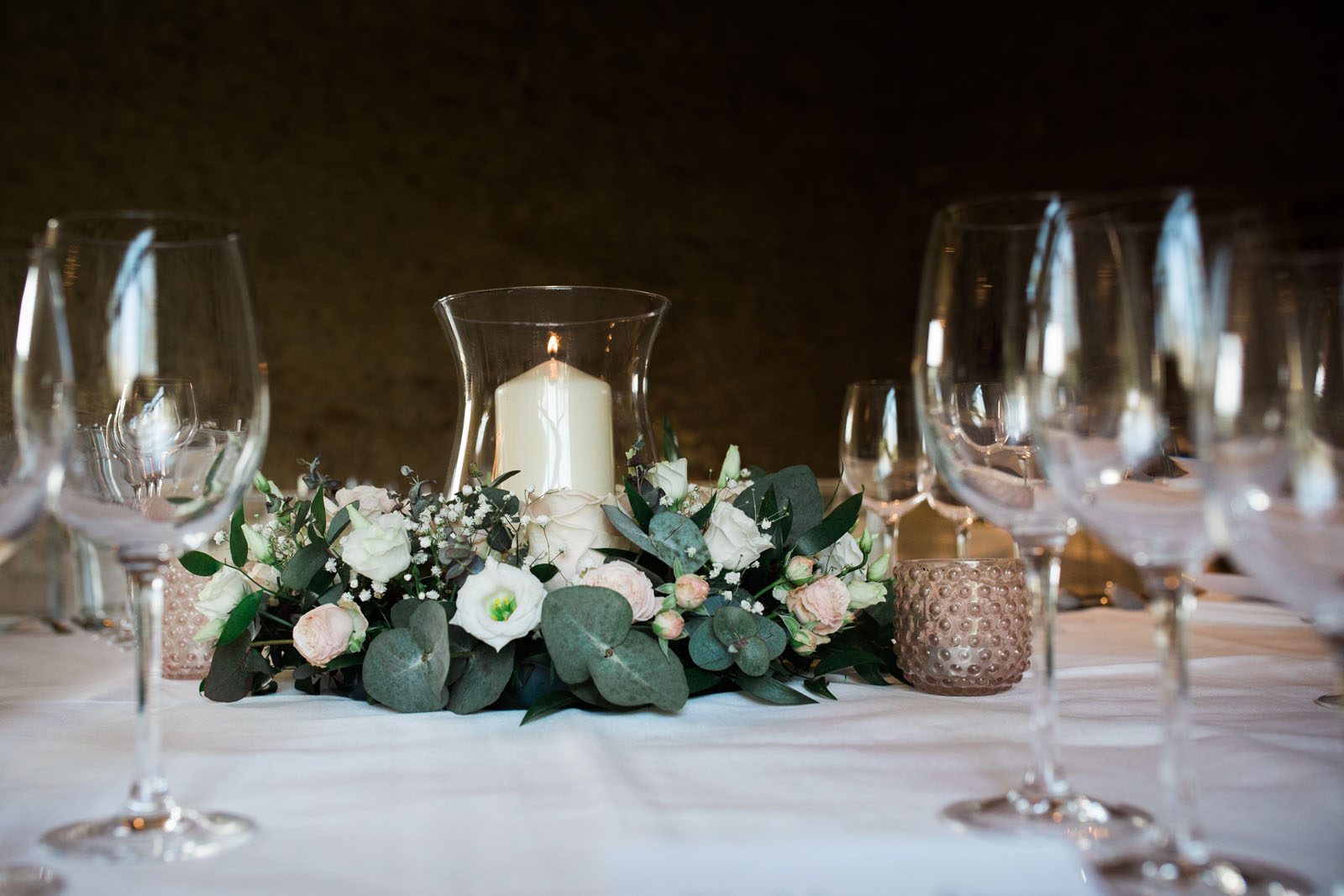 Notley Abbey wedding venue - table setting