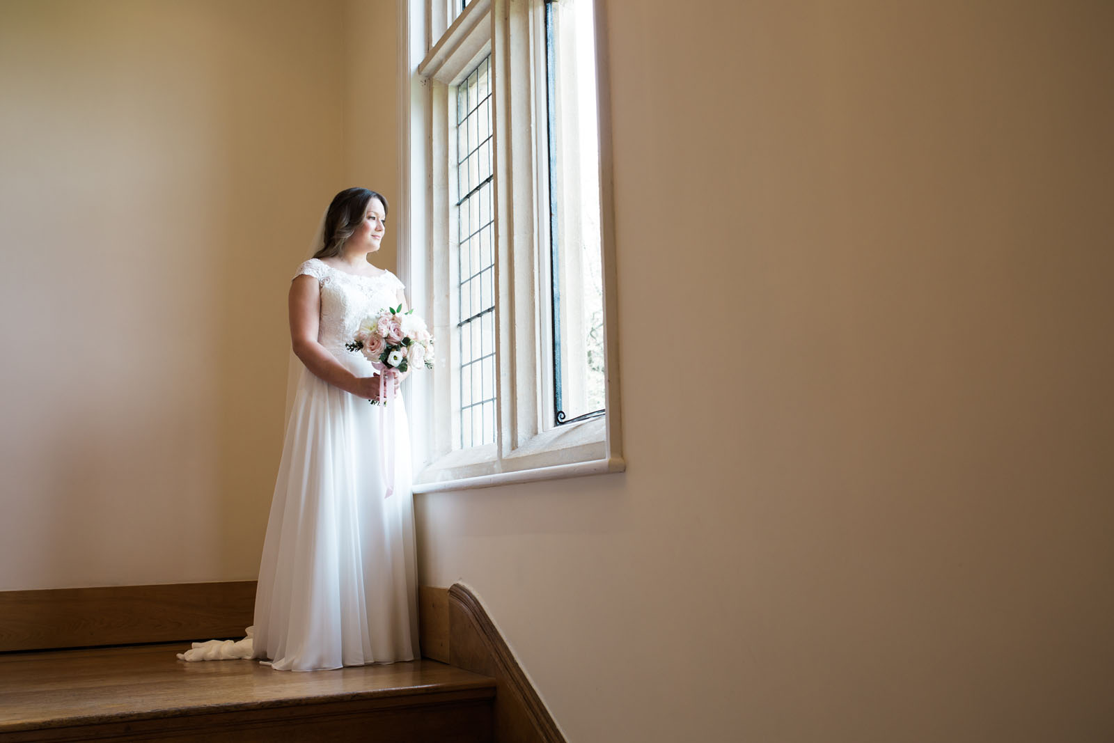 Bride - window shots at notley abbey