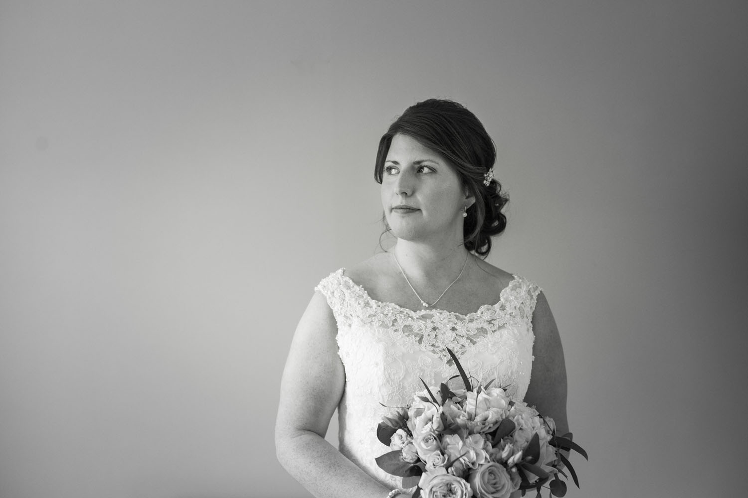 Bride - black and white