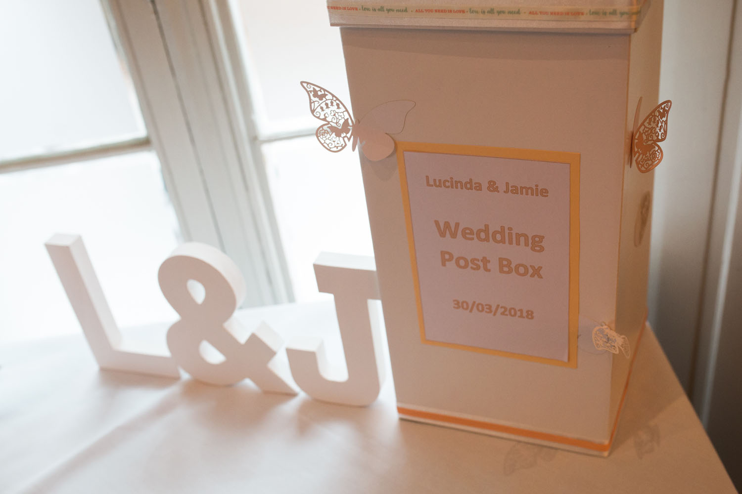 wedding guests post box - devere latimer