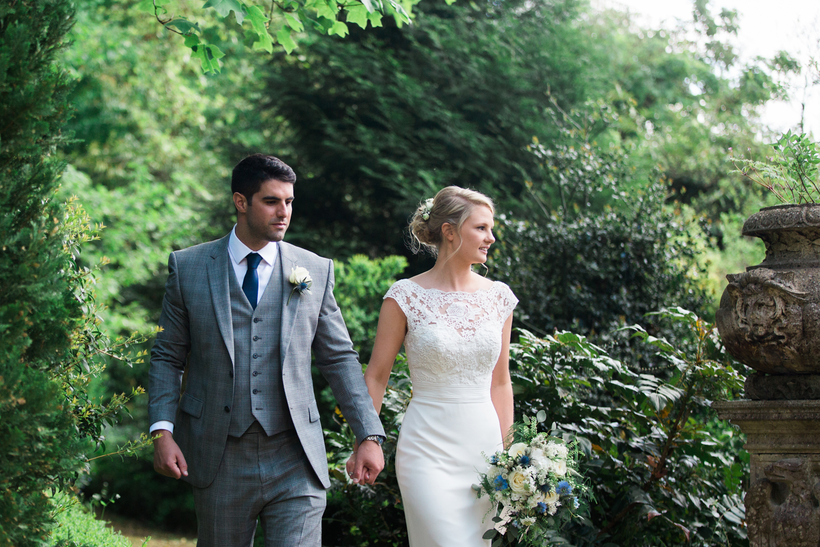 Beautiful couple at Cliveden, Spring Cottage