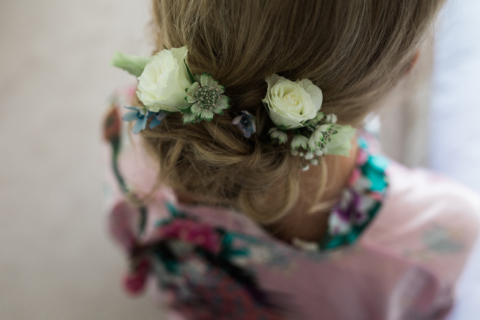 Bridal Hair - spring cottage wedding