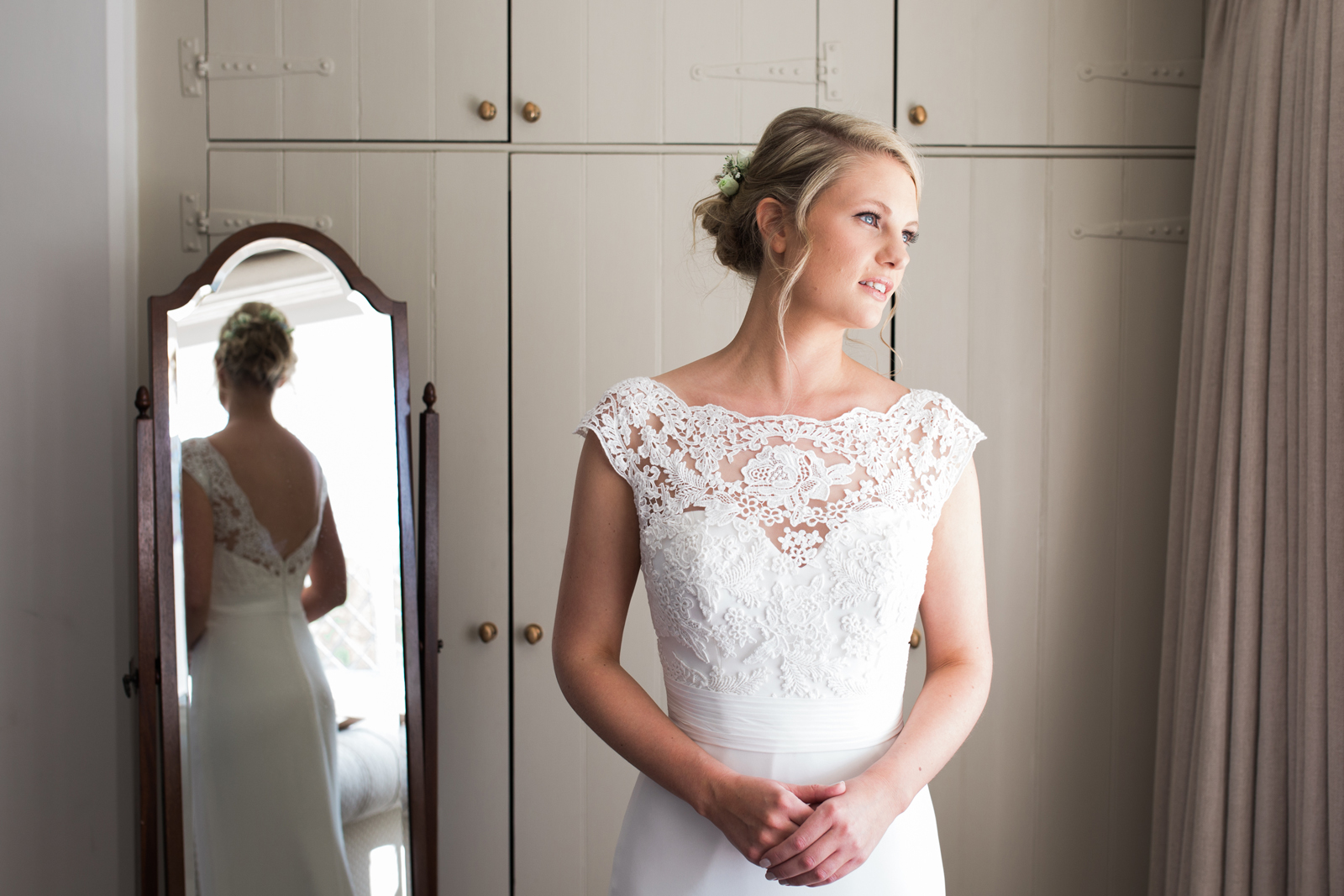 Bride at Spring Cottage, Cliveden Wedding