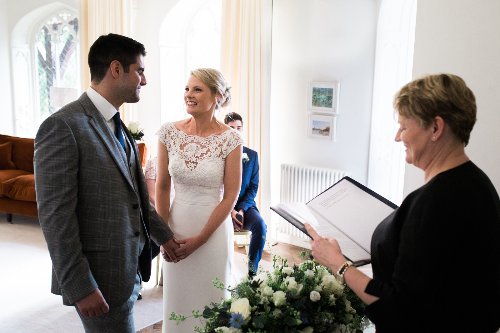 Happy couple - ceremony at Spring Cottage, Cliveden House