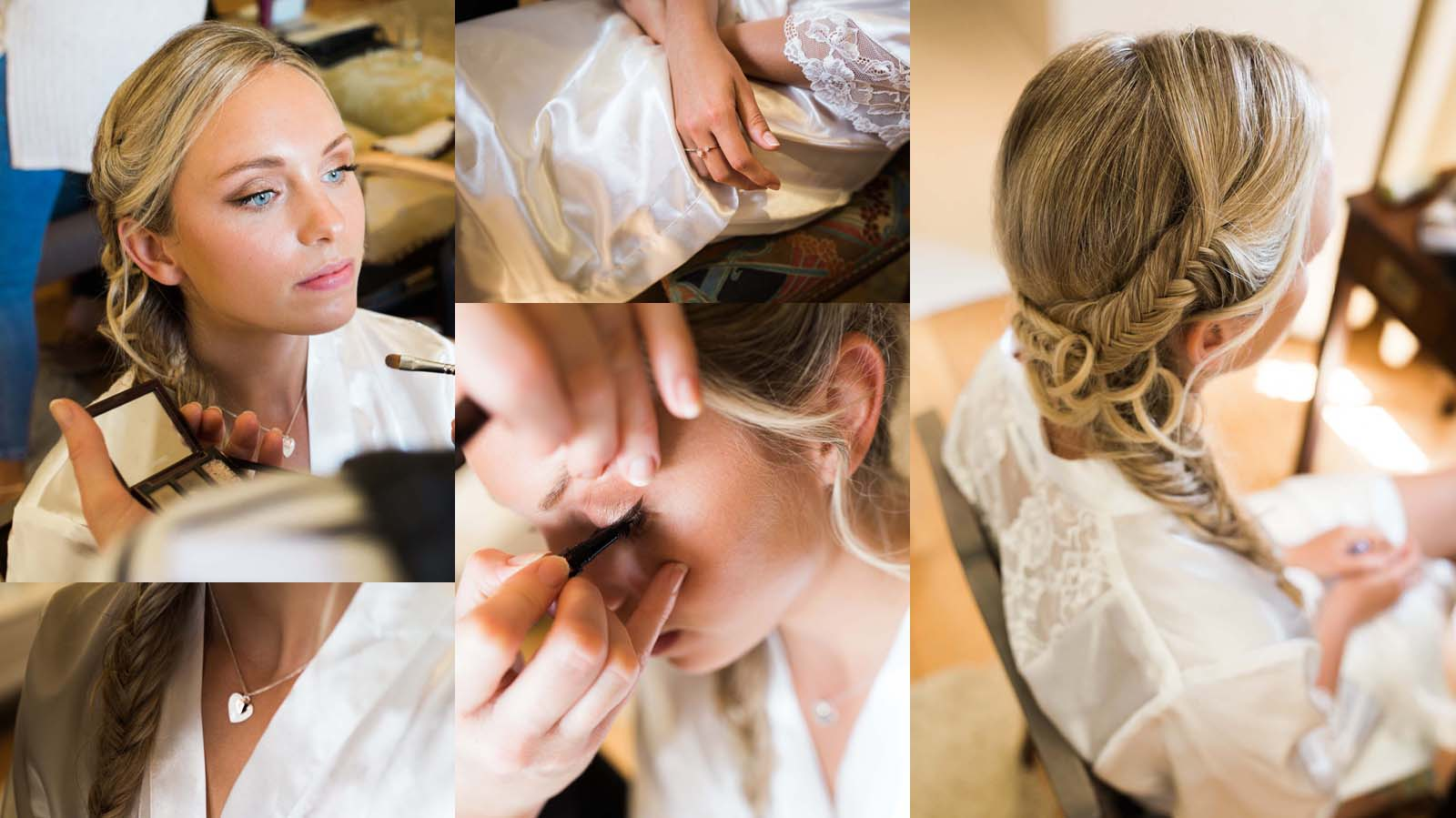 Notley Abbey wedding in Buckinghamshire - wedding preparations collage