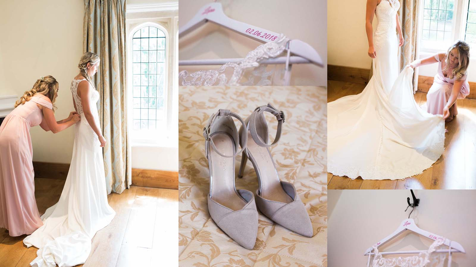 Notley Abbey wedding in Buckinghamshire - wedding collage