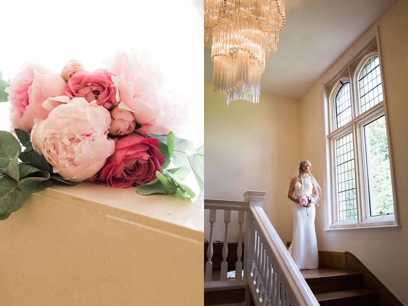 Notley Abbey wedding in Buckinghamshire - bride and bouquet