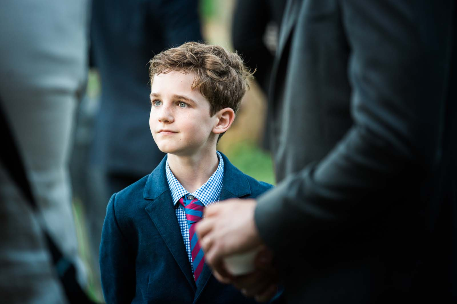 Notley Abbey Wedding Young Guest Buckinghamshire