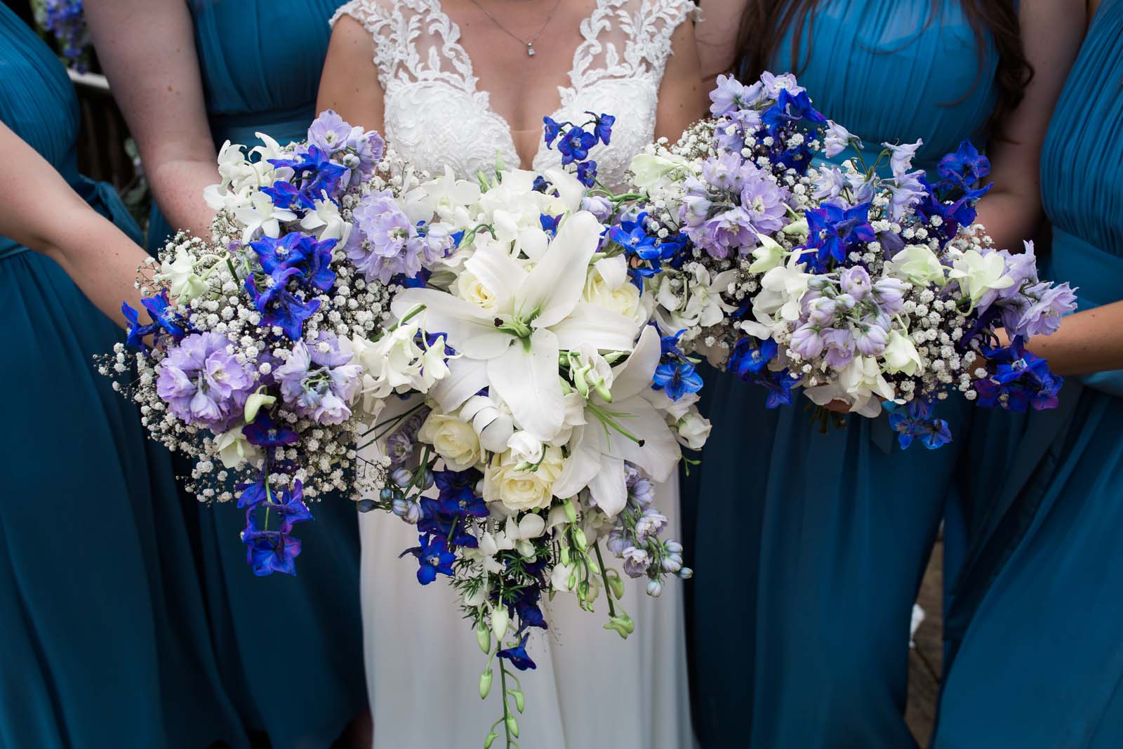Wisteria in wedding bouquet // The Pavilion in Buckinghamshire