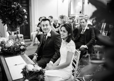 Bride and Groom wedding ceremony at Hedsor House