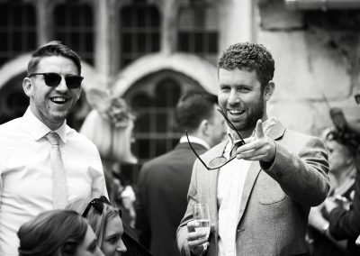 Candid Shot of Guests at Notley Abbey Weddings - Heni Fourie Photography