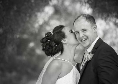 Groom Laughing - Wedding Photography at The Pavilion in Bucks