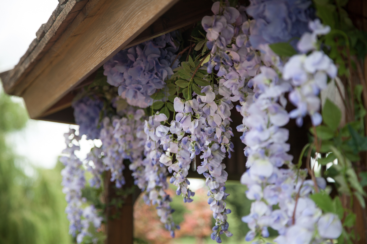 Artificial Wisteria Decor for Weddings // The Pavilion at Lane End